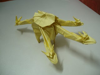 three-headed dragon origami