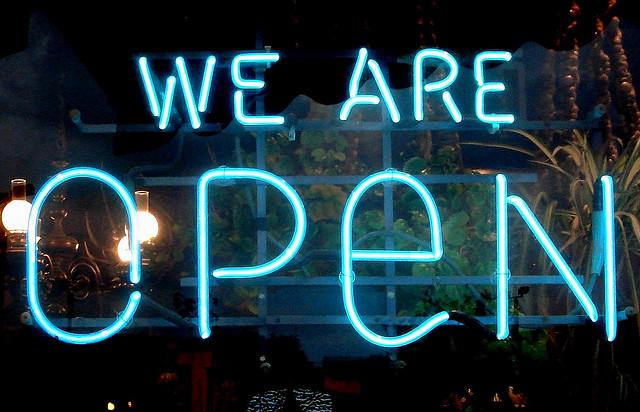Мы открылись