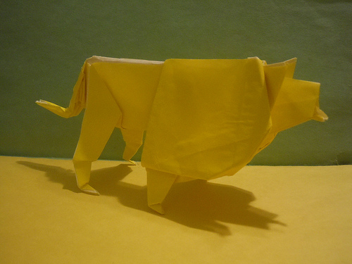 Origami lion