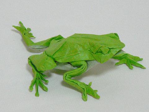 Origami Japanese Tree Frog