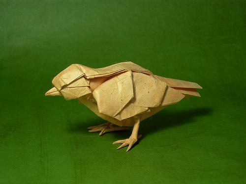 Маленькая Оригами птичка