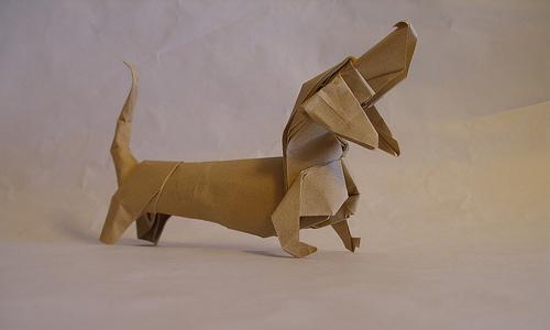 Origami Basset Hound
