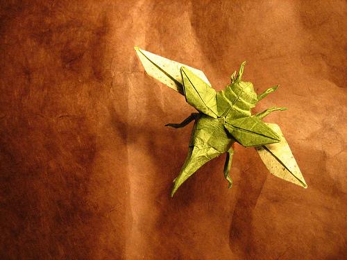 Летающий Оригами Жук Геркулес