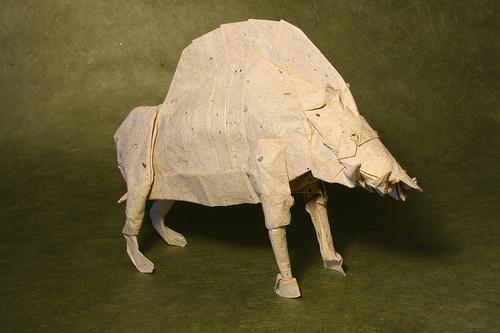 Origami Divine boar