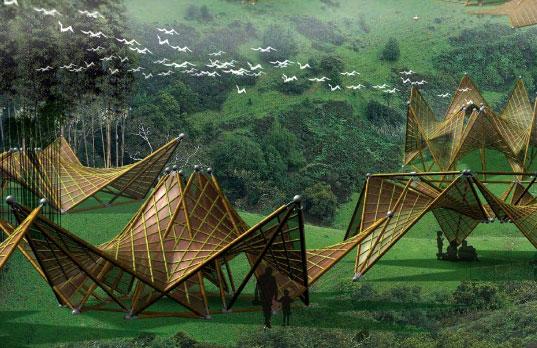 Бамбуковые Оригами дома