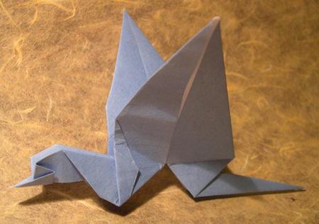 Оригами птеродактиль
