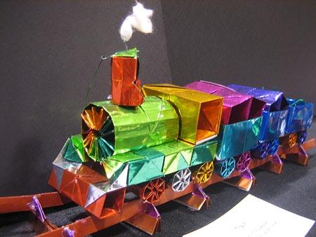 Оригами поезд