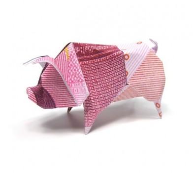 Оригами свинья из салфетки