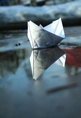 Оригами корабль