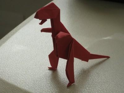 Оригами тиранозавр