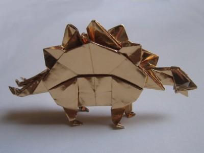 Оригами стегозавр