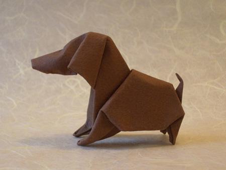 Оригами такса