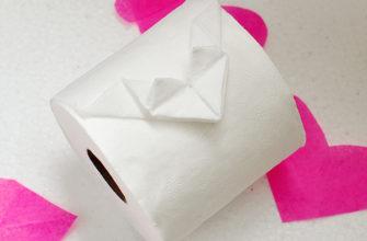 Сердечко из туалетной бумаги
