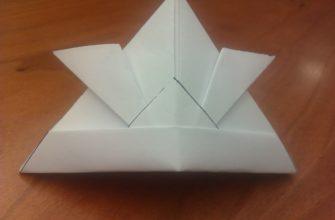 Оригами шлем самурая