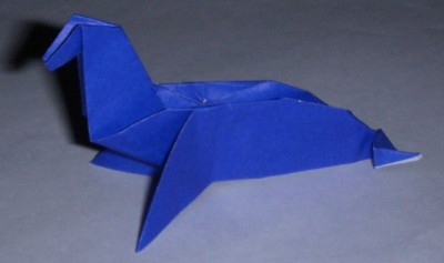 Оригами морской котик