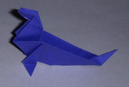 Оригами морской котик по схеме Katsuhisa Yamada