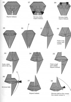 Схема оригами хамелеона, часть 3