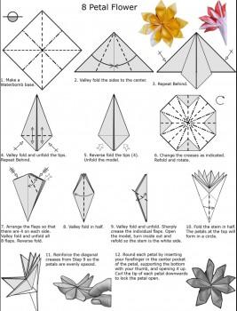 схема сборки цветка