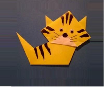 Раскрашенный кот - тигр