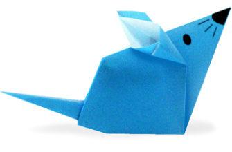 маленькая мышка оригами