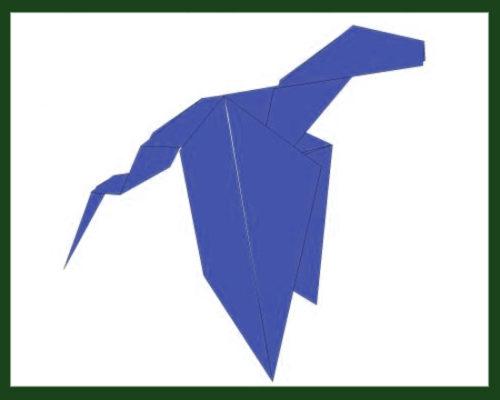 Оригами дракон по схеме Дарена Эбби