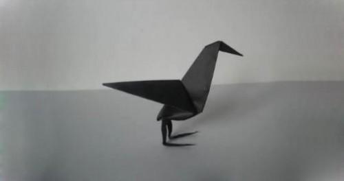 ворон оригами