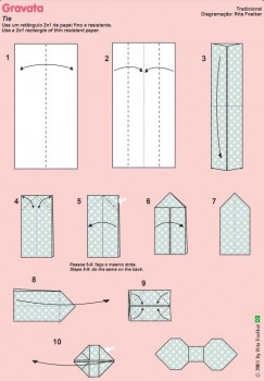 Схема сборки для галстука-бабочки