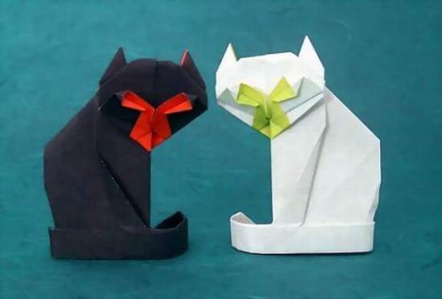 оригами коты от GiladAharoni