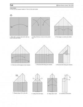 кот оригами схема часть1