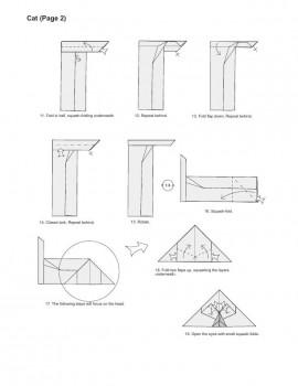 кот оригами схема часть2