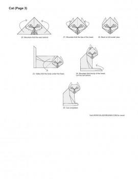 кот оригами схема часть3