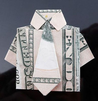 рубашка из денег