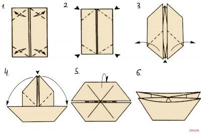 оригами форма катамаран
