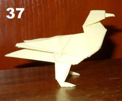 Финальная птичка оригами