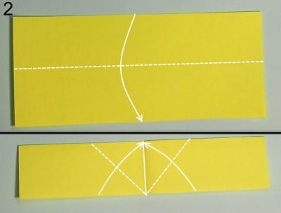 схема 2 оригами тюльпана