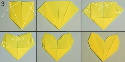 схема 3 оригами тюльпана