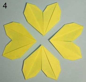 схема 1 оригами тюльпана
