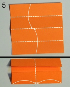схема 5 оригами тюльпана