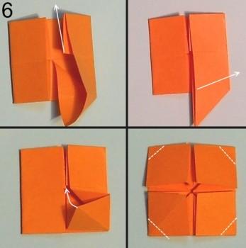 схема 6 оригами тюльпана