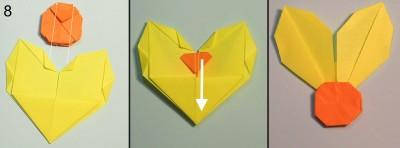 схема 8 оригами тюльпана