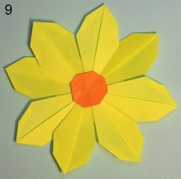 схема 9 оригами тюльпана