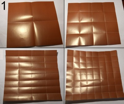 ёжик оригами схема 1
