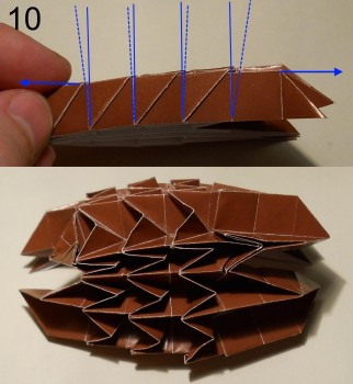 ёжик оригами схема 10