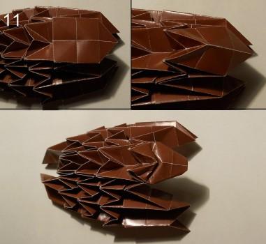 ёжик оригами схема 11