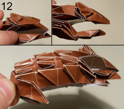ёжик оригами схема 12