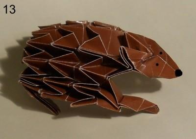 ёжик оригами схема 13
