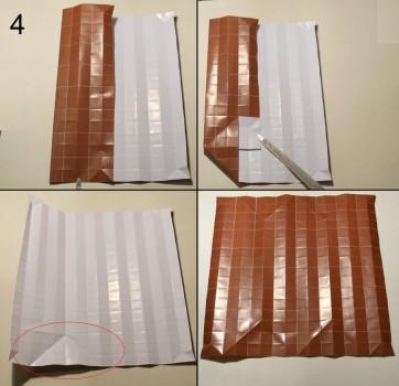 ёжик оригами схема 4