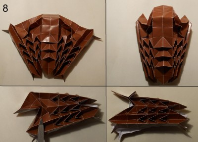 ёжик оригами схема 8