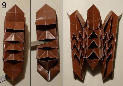 ёжик оригами схема 9