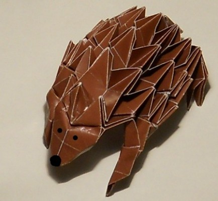 Оригами ёжик